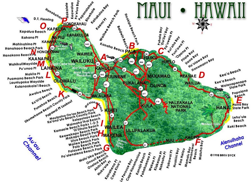 mauis video beach directory Hamoa Beach Virgin By Roadside Seven – Tourist Map Of Maui